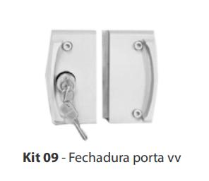 KIT 09 - FECHADURA PORTA V/V