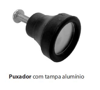 PUXADOR C/ TAMPA ALUMINIO
