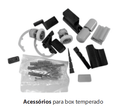 ACESS�RIOS P/ BOX TEMPERADO