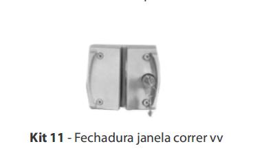 KIT 11 - FECHADURA JANELA CORRER V/V