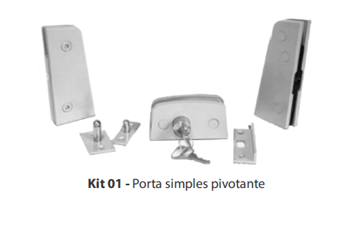KIT 01 - PORTA SIMPLES PIVOTANTE