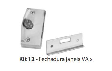KIT 12 - FECHADURA JANELA V/A