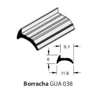 BORRACHA GUA 038 P/ GRADIL